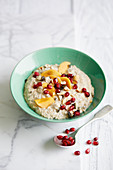 Kaki quinoa soup for breakfast