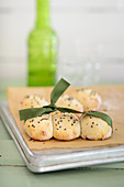 Anise rolls with a green ribbon