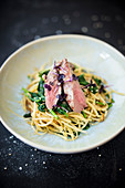 Lamb fillet with parsnip noodles