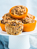Gluten free healthy pumpkin muffins with dark chocolate