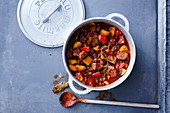 Potato and venison goulash with peppers