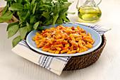 Malloreddus con salsiccia (Sardinian pasta dish)