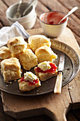Camp Oven Scones with Jam and Cream