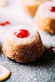 Mini jam doughnut muffins