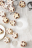 Berry cherry fruit mince pies with vanilla pastry