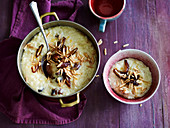 Rice pudding with dates and almonds