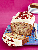 Cranberry Banana Cake with cream and cheese Frosting