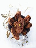 Pistazien-Biscotti zu Weihnachten