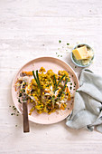 Fennel and saffron risotto with smoked fish
