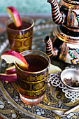 Turkish black tea with apples and rum