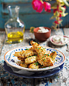 Fish fingers with tartare sauce