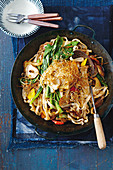 Sichuan pepper lamb and mixed mushroom stir-fry