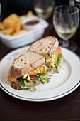 Sandwich mit Backfisch