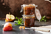 Apple and mint preserves
