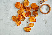 Sweet potato chips with smoked paprika