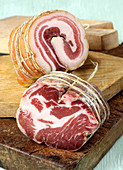 Coppa and pancetta (Italian sausage speciality)