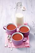 Warm cocoa with milk