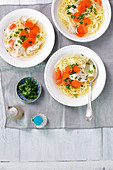 Chicken soup with pasta