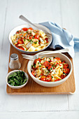 Pappardelle with ceps and cherry tomatoes