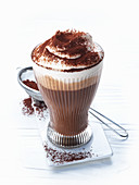 Lumumba (cocoa with rum and whipped cream)