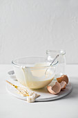 Ready mayonnaise in a bowl
