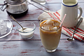 Vanilla and almond iced coffee
