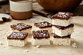 No bake coconut bars