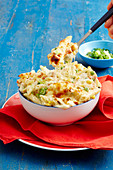 Cheesy Bacon, Pea and Corn Penne