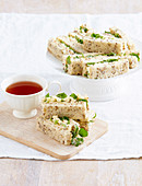 Egg and Cress Finger Sandwiches