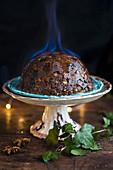 Christmas Pudding flambieren