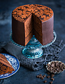A festive chocolate cake