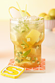 A pear and verbena mojito with cucumber