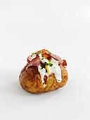 Baked Potatoe mit Bacon und Sauerrahm