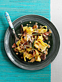 Pappardelle with chicken liver and sage
