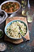 Cauliflower rice with herbs