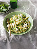 Minted pea and broad bean penne
