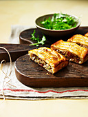 AChicken, Bacon and Blue Cheese Jalousie