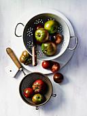 Tomaten im Sieb