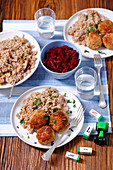Meatballs with barley
