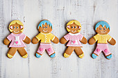 Hansel & Gretel gingerbread biscuits decorated with icing