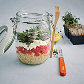 Energy couscous in a jar