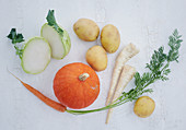 Fresh vegetables for first baby food