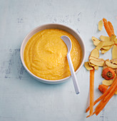 Carrot, potato and meat purée