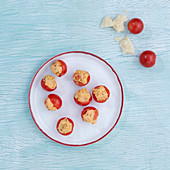 Cherry tomatoes stuffed with polenta