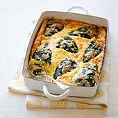 Baked chilli Rellenos in a baking dish (Mexico)