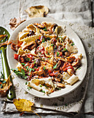 Sage pappardelle with a mushroom ragout