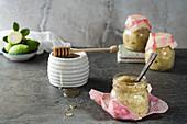 Feijoa and Chia Seed Jam, sweetened with honey