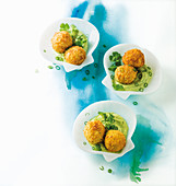 Smoked snoek croquettes with avocado crema