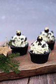 Black Forest Gateau cupcakes for Christmas
