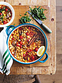 Moroccan lamb and chickpea soup